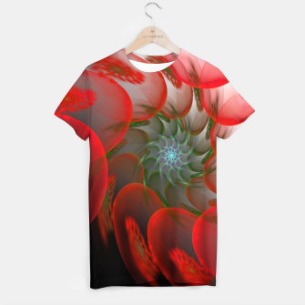 Thumbnail image of fractal flower pattern -1- T-shirt, Live Heroes