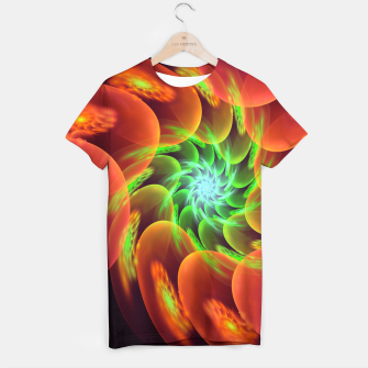 Thumbnail image of fractal flower pattern -3- T-shirt, Live Heroes
