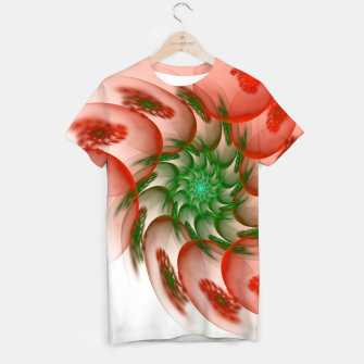 Thumbnail image of fractal flower pattern -2- T-shirt, Live Heroes