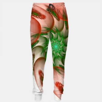 fractal flower pattern -2- Sweatpants thumbnail image