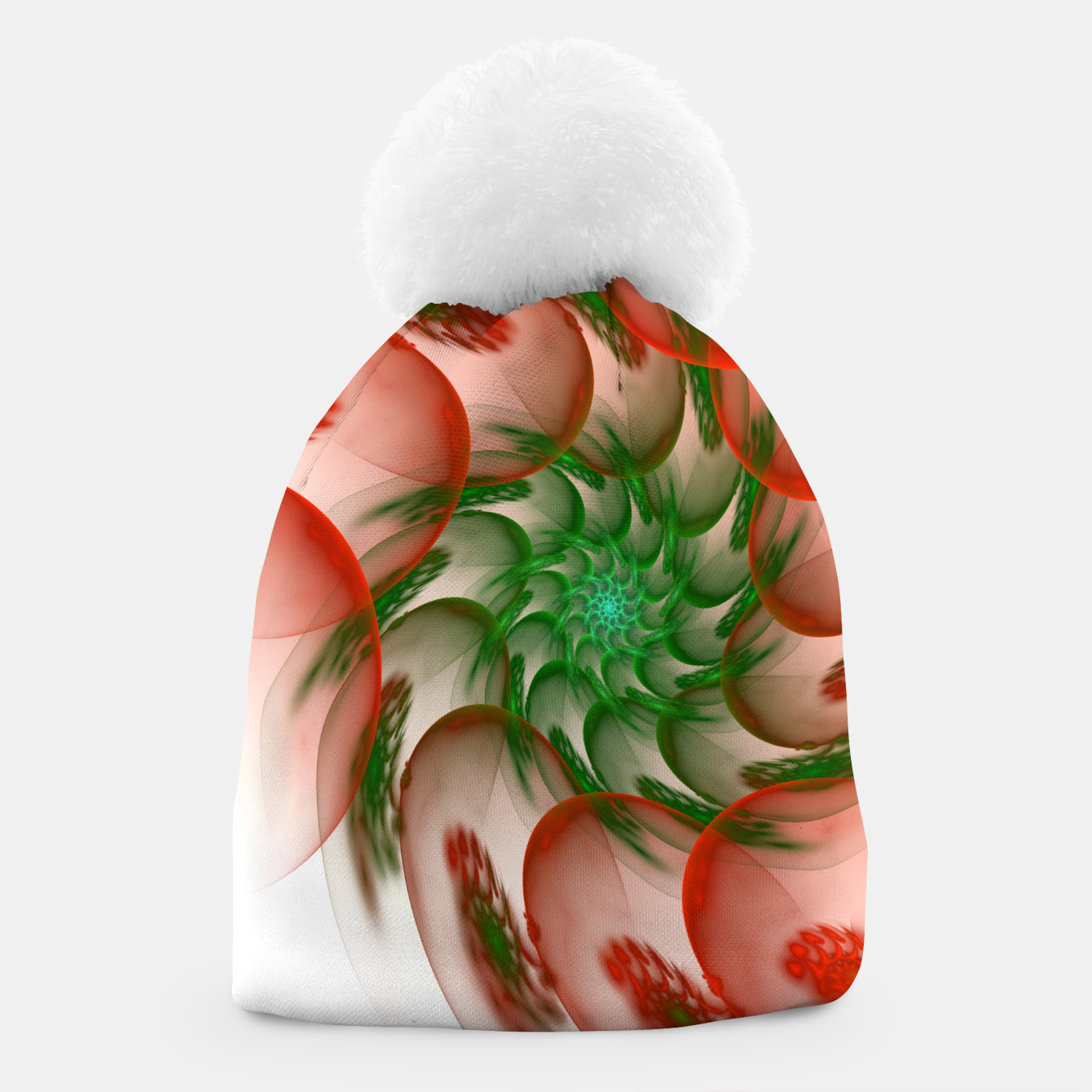 Image of fractal flower pattern -2- Beanie - Live Heroes