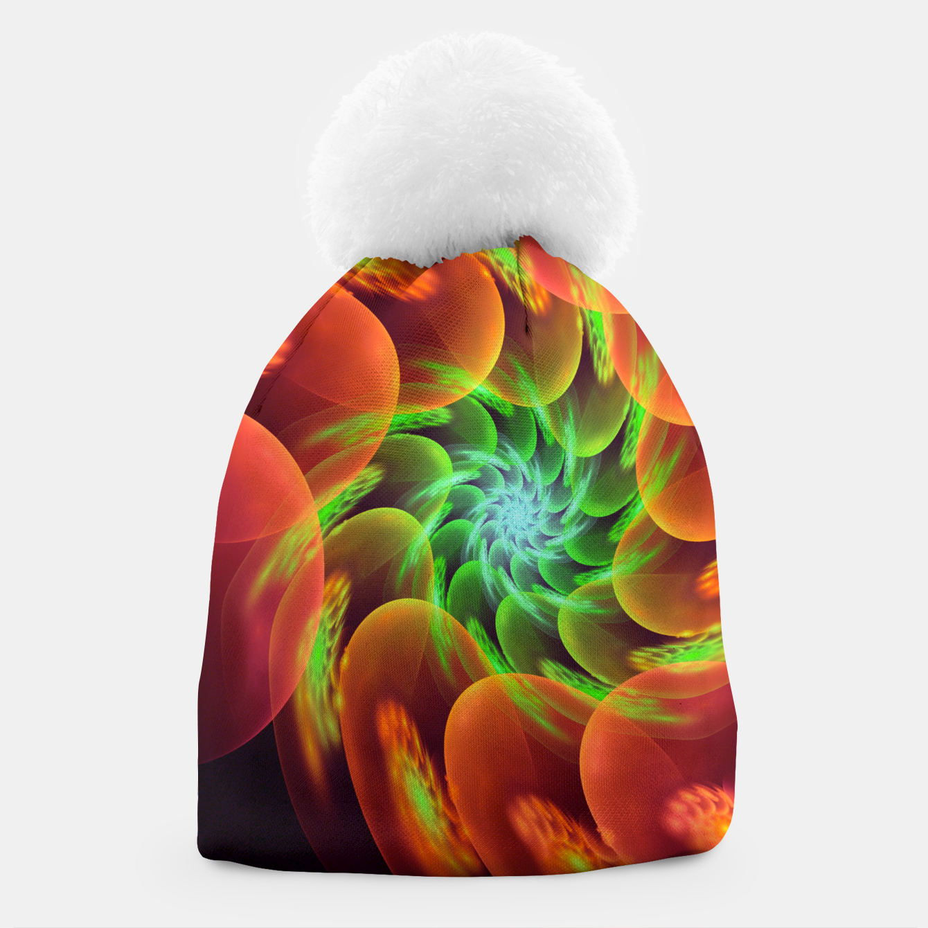 Image of fractal flower pattern -3- Beanie - Live Heroes