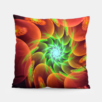 Thumbnail image of fractal flower pattern -3- Pillow, Live Heroes