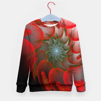 Thumbnail image of fractal flower pattern -1- Kid's Sweater, Live Heroes