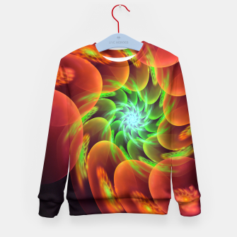 Thumbnail image of fractal flower pattern -3- Kid's Sweater, Live Heroes