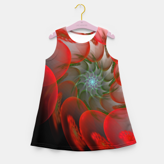 Thumbnail image of fractal flower pattern -1- Girl's Summer Dress, Live Heroes