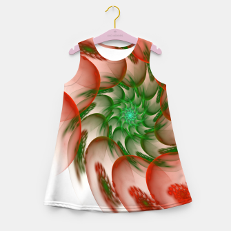 Thumbnail image of fractal flower pattern -2- Girl's Summer Dress, Live Heroes