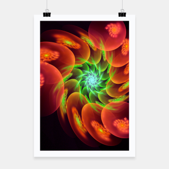Thumbnail image of fractal flower pattern -3- Poster, Live Heroes