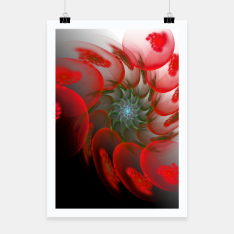 Thumbnail image of fractal flower pattern -1- Poster, Live Heroes