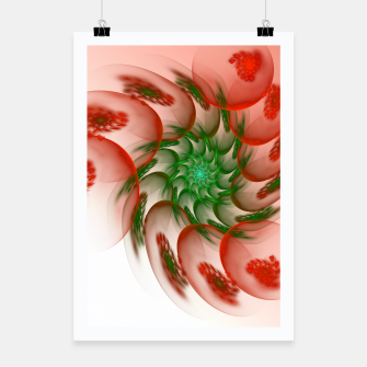 Thumbnail image of fractal flower pattern -2- Poster, Live Heroes