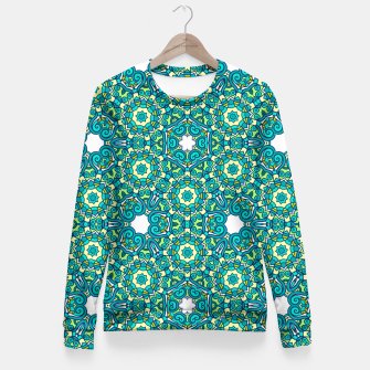 Thumbnail image of TRIBE PATTERN Fitted Waist Sweater, Live Heroes