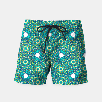 Thumbnail image of TRIBE PATTERN Swim Shorts, Live Heroes