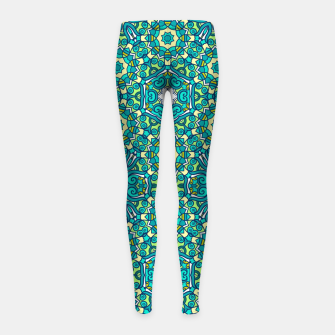 Thumbnail image of TRIBE PATTERN Girl's Leggings, Live Heroes