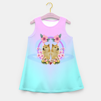 Miniature de image de Shibaesthetic Girl's Summer Dress, Live Heroes