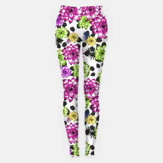 Thumbnail image of Bright Floral Joy Leggings, Live Heroes