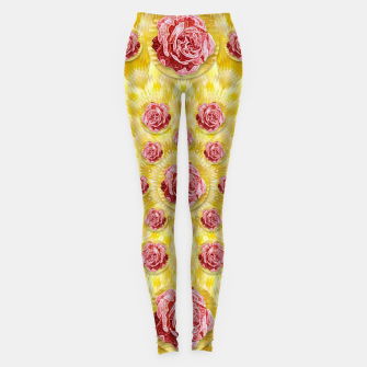 Thumbnail image of roses and fantasy roses  Leggings, Live Heroes