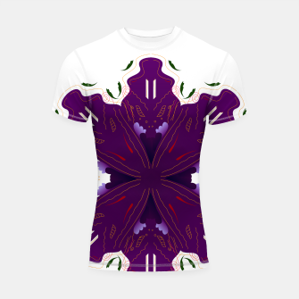 Thumbnail image of Luxury SPORTY Rashguard white with Purple Mandala, Live Heroes