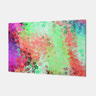 Thumbnail image of flower pattern abstract background in green pink purple blue Canvas, Live Heroes