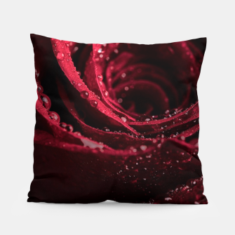 Thumbnail image of Burgundy Rose Pillow, Live Heroes