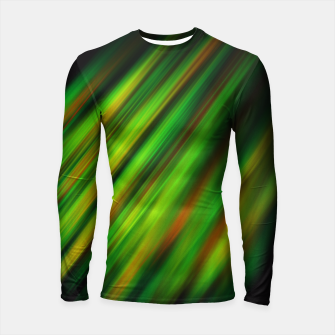 Colorful neon green brush strokes on dark gray Longsleeve Rashguard  thumbnail image