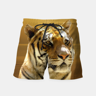 Thumbnail image of Golden Tiger Swim Shorts, Live Heroes