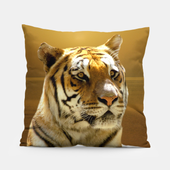 Thumbnail image of Golden Tiger Pillow, Live Heroes