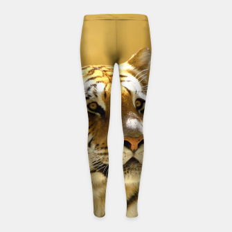 Thumbnail image of Golden Tiger Girl's Leggings, Live Heroes