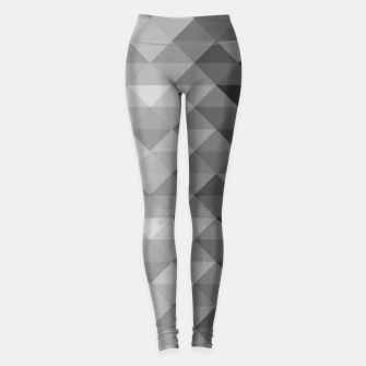 Grayscale triangle geometric squares pattern Leggings thumbnail image