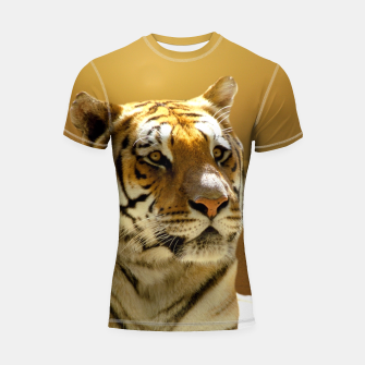 Thumbnail image of Golden Tiger Shortsleeve Rashguard, Live Heroes