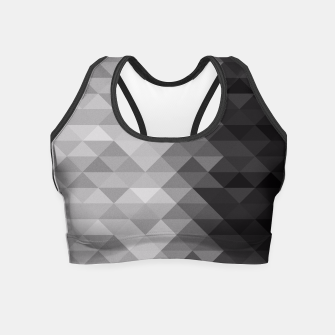 Grayscale triangle geometric squares pattern Crop Top thumbnail image