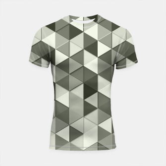 Thumbnail image of Grayscale triangle galore Shortsleeve Rashguard, Live Heroes