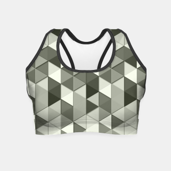 Thumbnail image of Grayscale triangle galore Crop Top, Live Heroes