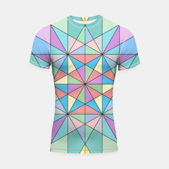 Colorful Pastel Mosaic Triangle Star Shortsleeve Rashguard thumbnail image