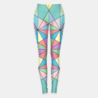 Colorful Pastel Mosaic Triangle Star Leggings thumbnail image