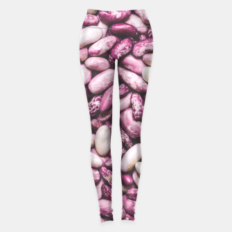 Shiny white and purple cool beans Leggings thumbnail image