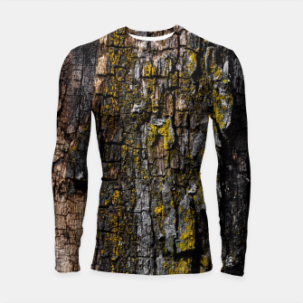 Thumbnail image of Cool Brown wood bark with yellow lichen Longsleeve Rashguard , Live Heroes