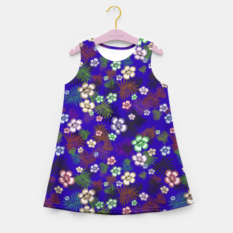 Thumbnail image of Graphic floral Girl's Summer Dress, Live Heroes