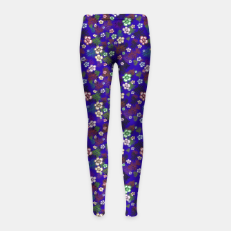 Thumbnail image of Graphic floral Girl's Leggings, Live Heroes