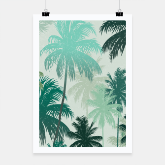 Miniatur Summer Palm trees  Poster, Live Heroes