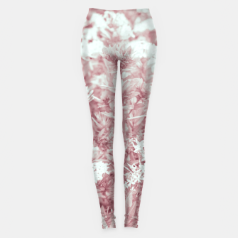 Thumbnail image of Pink Colored Flowers Photo Leggings, Live Heroes