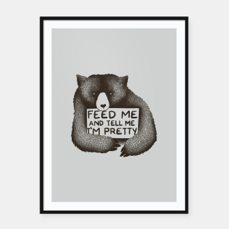 Imagen en miniatura de Feed Me And Tell Me Im Pretty Framed poster, Live Heroes