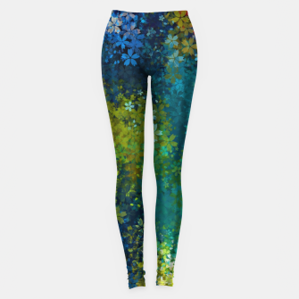 Thumbnail image of flower pattern abstract background in blue yellow green red Leggings, Live Heroes