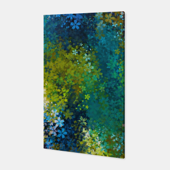 Thumbnail image of flower pattern abstract background in blue yellow green red Canvas, Live Heroes