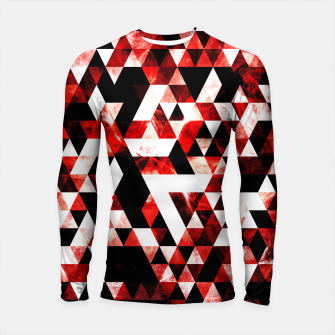 Triangle Geometric Vibrant Red Smoky Galaxy Longsleeve Rashguard  thumbnail image
