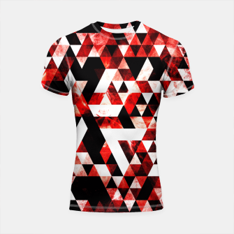 Triangle Geometric Vibrant Red Smoky Galaxy Shortsleeve Rashguard thumbnail image