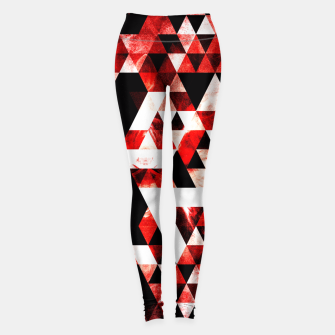 Triangle Geometric Vibrant Red Smoky Galaxy Leggings thumbnail image
