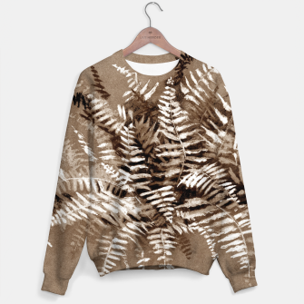 Thumbnail image of Fern, floral art, brown scale, monochrome Sweater, Live Heroes