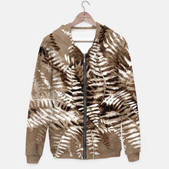 Thumbnail image of Fern, floral art, brown scale, monochrome Hoodie, Live Heroes