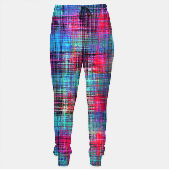 Miniaturka plaid pattern abstract texture in blue pink green yellow Sweatpants, Live Heroes