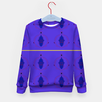 Thumbnail image of Kids artistic Sweater purple Paisleys, Live Heroes